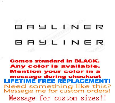 "Pair Of 3""x28"" Bayliner Boat Hull Decals. Marine Grade. Your Color Choice 142"