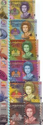 SET Pitcairn Islands, 5;10;20;50;100;500 Pounds, QEII, fantasy ND (2018)