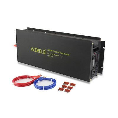 3000W 12/24/48V DC to 120/220V AC Pure Sine Wave Inverter with remote control
