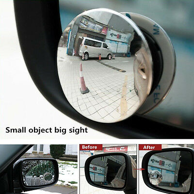 2PCS Car Rearview Blind Spot Side Rear View Mirror Convex Wide Angle Adjustable