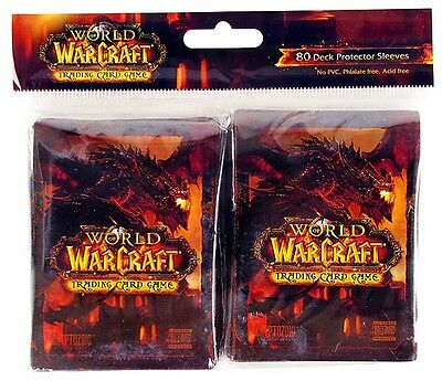 World of Warcraft - Deathwing - Trading Card Sleeves (80) - UK Seller - FREE P+P
