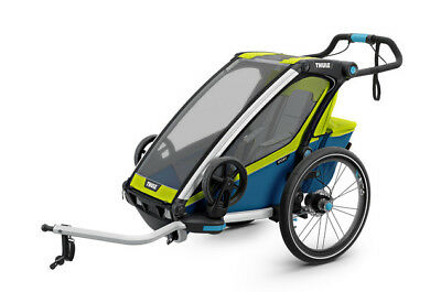 Thule Chariot Sport1, in Chartreuse, Kinder-Fahrradhänger mit Buggy-Set