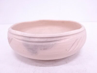 3455966: Japanese Tea Ceremony / Raku Ware Ash Bowl By Katsura Kiln Unglazed