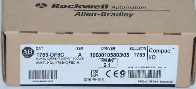 New Sealed Allen Bradley 1769-OF8C 8 Current PLC Output Module AB 1769OF8C
