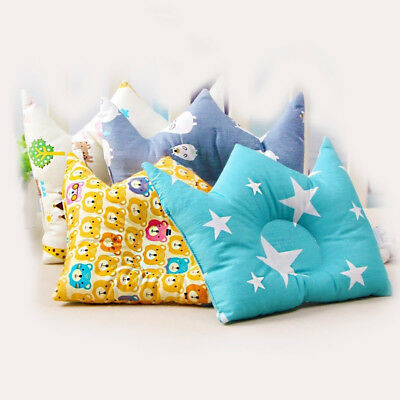 Soft Cotton Anti-Rollover Sleep Shaping Pillow Infant Baby Cushion Crown Strict