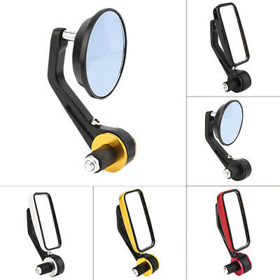 Side Mirrors for Motorcycle Rear View Handle Bar End Mirrors Square NEW AU