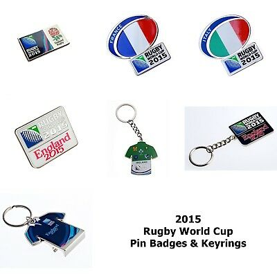 2015 Rugby World Cup Pin Badges & Keyrings England Ireland France Italy More+
