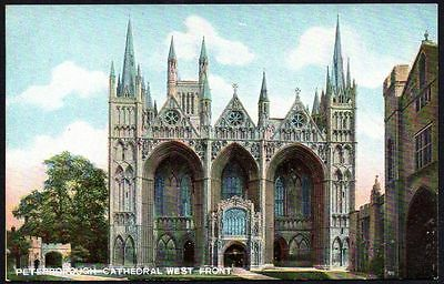 Postcard - Cambridgeshire - Peterborough Cathedral,  West Front