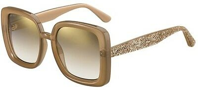 Gotha Crystal Glitter Round Sunglasses in Green Gold GOTHA/S 3W5 50 Jimmy Choo London