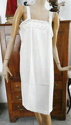 ANCIENNE CHEMISE A BRIDES AVEC BRODERIE ANGLAISE /  COTON FIN /  n°3