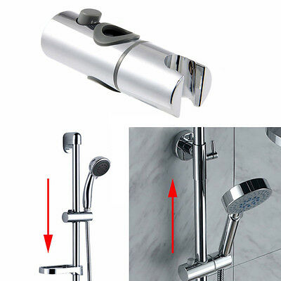 Shower Head Holder 22 / 25 mm Slider Replacement ABS Chrome Adjustable Bracket