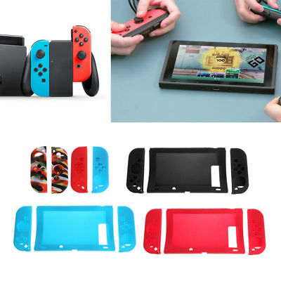 Anti-slip Silicone Host Rubber Case Cover Skin Protective For Nintendo Switch