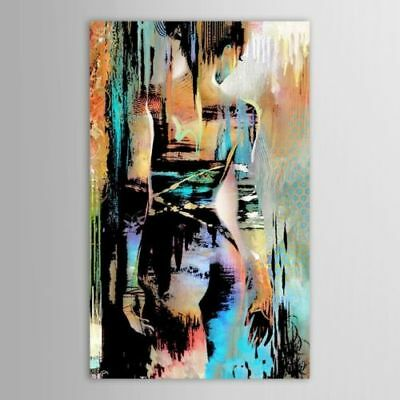 Woman Abstract Hand-painted Oil Painting Home Decor On Canvas Wall AB No Frame