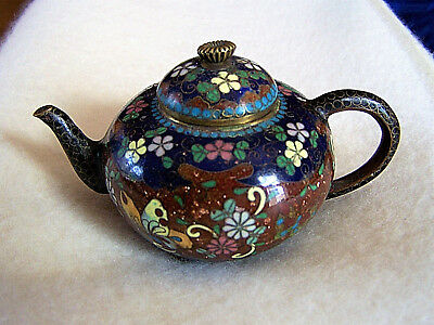 Antique Meiji Period Cloisonne Teapot
