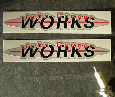 "Pair of  John Cooper works 6"" stickers"