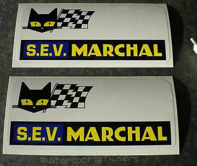 """Pair of  SEV Marchal 6"""" stickers"""