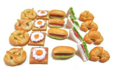 20 Loose Bun filled with Cream Dollhouse Miniatures Food Bakery Deco
