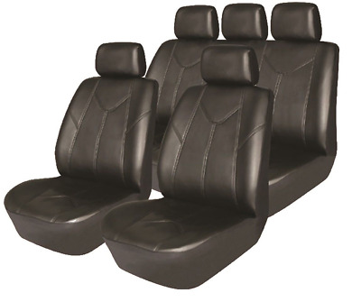 HYUNDAI ACCENT HATCHBACK 00-05 Luxury Black Leather Look Seat Cover Full Set