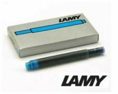Lamy Fountain Pen T10 Turquoise Ink Cartridges New  In Box  5 Cartridges