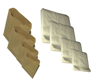 Brown / White / Greaseproof Paper Bags Food Kraft Grocery Gift Retail Shop Bags