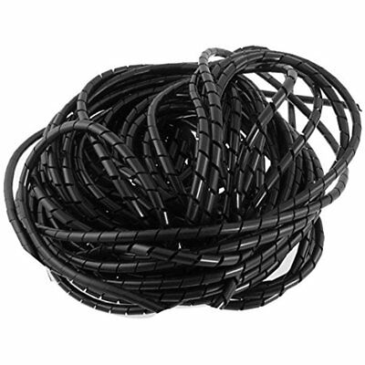 21M Cable Sleeves 68 Ft PE Polyethylene Spiral Wire Wrap Tube PC Manage 6mm For