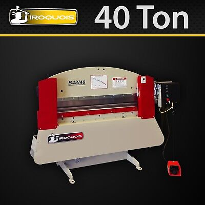 "Iroquois Press Brake, 48"", 40 Ton, Standard Manual Pkg, MADE IN USA! IN STOCK!"