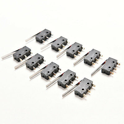 10 X Tact Switches KW11-3Z 5A 250V Microswitch 3 PIN Buckle XBUK