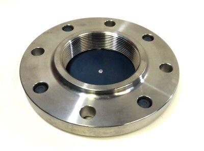 Echjay Threaded Stainless Steel Flange,  4in NPT, SA/A182 F316/L
