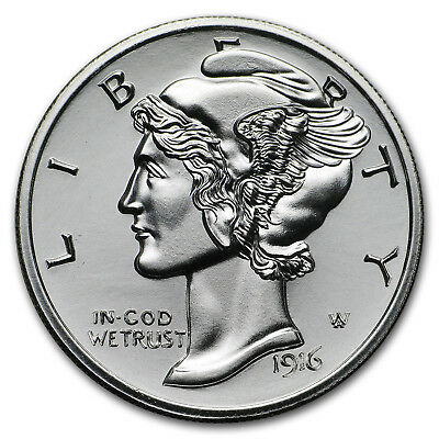 2 oz Silver Round - Winged Liberty Mercury Dime - SKU#159916