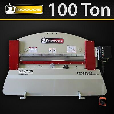 "72"" Iroquois Press Brake, 100 Ton, Standard Manual Pkg, MADE in USA! IN STOCK!"