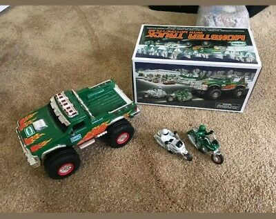 2007 Hess Monster Truck with motorcycles great condition!
