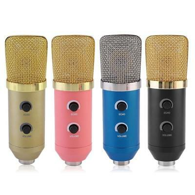 Professional USB Audio Condenser Microphone  Studio Broadcasting Mic w/ Stand
