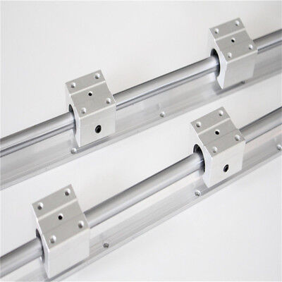 2X SBR12 12mm Linear Rails L300-1500mm Shaft Rod with 4X SBR12UU Blcok CNC Kit