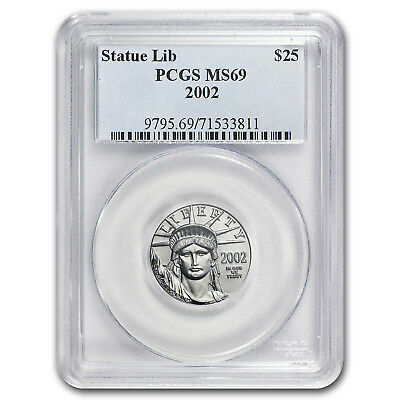 2002 1/4 oz Platinum American Eagle MS-69 PCGS - SKU#5995