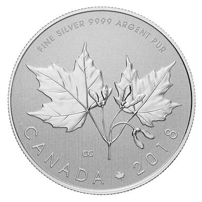 MAPLE LEAVES - 2018 $10 1/2 oz Fine Silver Coin - Royal Canadian Mint