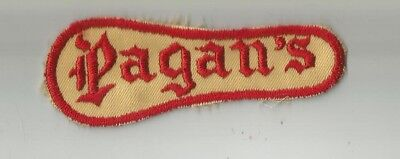 RARE!!! 1960'S VINTAGE PAGANS MC CLUB MOTORCYCLE VEST PATCH MADE ON OLD  TWILL