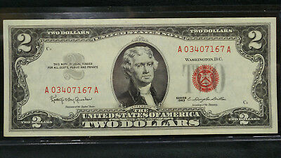 1963 Two (2) Dollar Bill Red Seal **UNC**