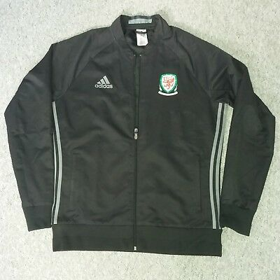 Wales football adidas Men''s Track Jacket Black L