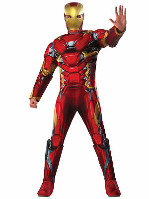 Iron Man Deluxe Muscle Chest Avengers Civil War Marvel Superhero Mens Costume