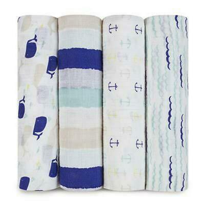 aden + anais Classic Swaddle, 4 Pack (High Seas) Free Shipping!
