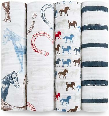 aden + anais Classic Swaddle, 4 Pack (Wild Horses) Free Shipping!