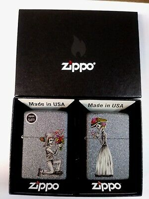 Zippo 28987 Day of the Dead Skulls Set Design Graphic Windproof Lighter
