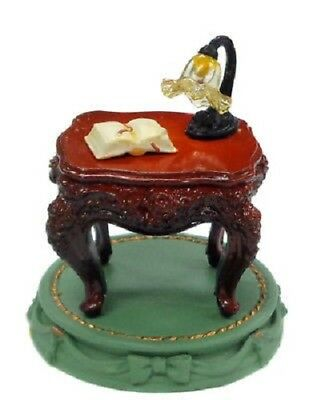 *B0484-11 Takara Miniature Antigue MuseumⅡFigure Rococo Style Table Brown Japan