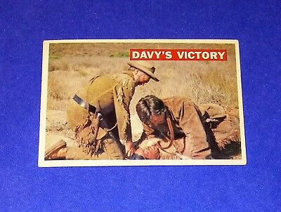 1956 Topps Davy Crockett 'Davy's Victory' Card #48 Orange Back Walt Disney