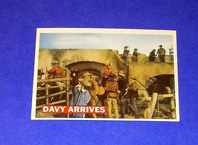 1956 Topps Davy Crockett 'Davy Arrives' Card #50 Orange Back Walt Disney