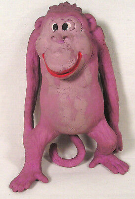 Soft Rubber EPS Bead Filled Pink Gorilla by Imperial 2002,Red Lip Smiling Monkey