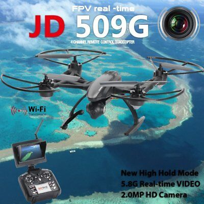 FPV 2.4Ghz 4CH RC 6-Axis Quadcopter Drone with 2MP HD Camera RTF UFO UAV JD509