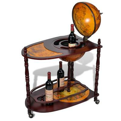 Antique Cabinet Drinks Rack Trolley Wine Storage Serving Cart Table Z5A9