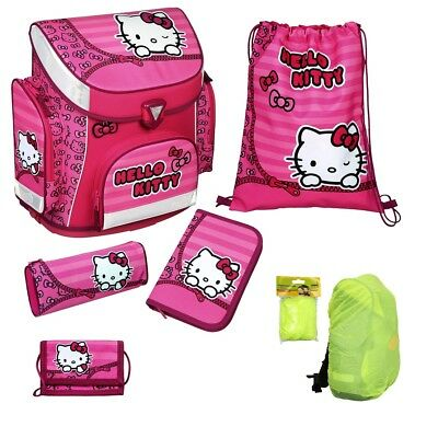Hello Kitty Schulranzen Set 6tlg. Federmappe Turnbeutel Scooli Campus Plus rosa