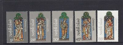 NORFOLK Island 1983 CHRISTMAS Stained Glass Windows of Saints set of 4 MNH -